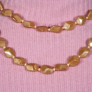 Jewelry - Butterscotch Hexagon Beaded Necklace